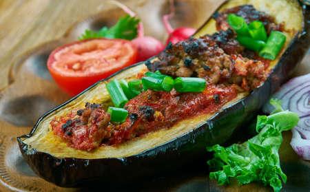 Imam Bayildi - stuffed Eggplant .dishes found in Turkish cuisine