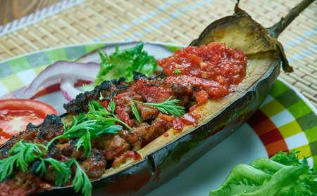 Arabic  stuffed Eggplant -Cheikh el mehchi , Palestinian Arabic Food,cuisine libanaise