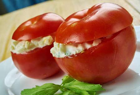 Tomates Monegasque -Stuffed italian tomatoes