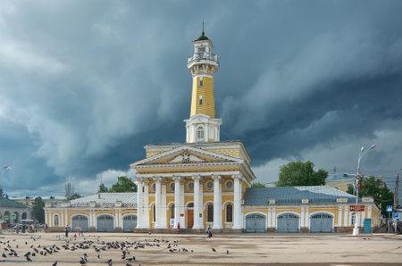 Kostroma, Susaninskaya area. Russia Provincial cityscape Editorial