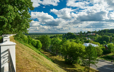 View of Vladimir city, Russia. June 22, 2017. Gold ring of Russia.