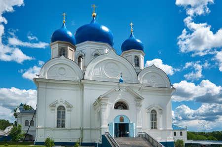 bogolyubovo: Orthodox monastery in the village of Bogolyubovo,Vladimir oblast. Russia. Cathedral of Bogolyubsk icon of Mother of God