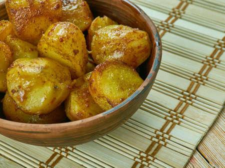 Smoked Paprika Roasted Potatoes, close up meal English Style Roasted Potatoes
