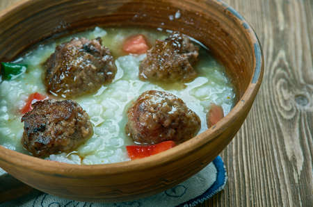 Persian Meatball Soup -Koofteh, close up Stock Photo