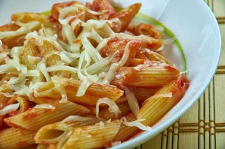 Basic Parmesan Pomodoro - Best Pasta  penne close up