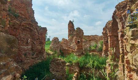 Holszany Castle. ruined residence of the Sapieha magnate family.Halshany, Hrodna Voblast, Belarus