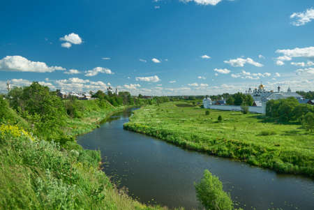St. Pokrovsky female monastery in a Suzdal. Golden Ring of Russia Travel