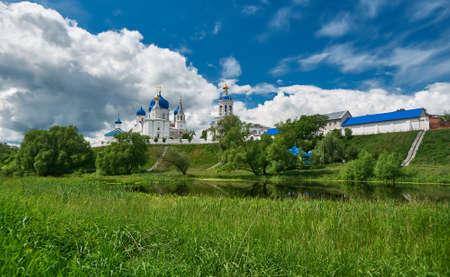 Orthodox monastery in the village of Bogolyubovo,Vladimir oblast. Russia Stock Photo