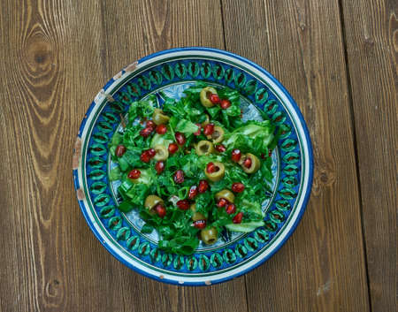 Zeytin piyazi - Olive Turkish salad