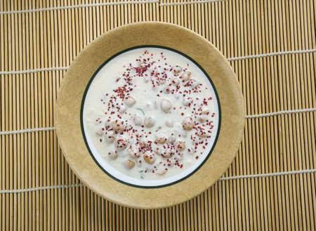 Chatpata Chana Raita - chickpeas in hot-sour yogurt