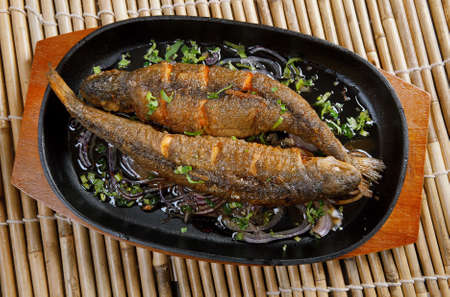 Chinese Steamed Trout with Ginger - Hongshao Yu