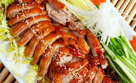 Peking duck - Roasted duck, Chinese style  . Shallow depth-of-field.