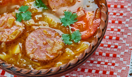 Supa de varza acra - Transylvanian cabbage soup, close up