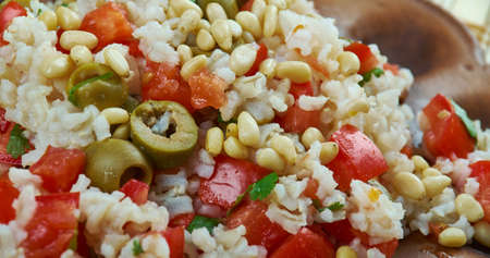 Mediterranean Wild Rice with Pine Nut Cheese, complement any summer meal.