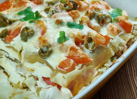 Mexican Lasagna - Tex-Mex flavors close up