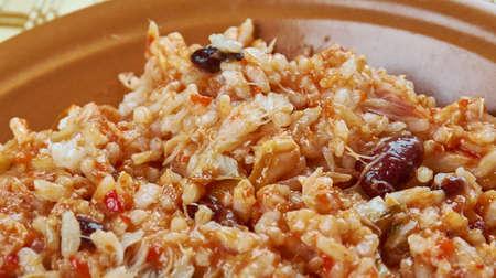 stockfish: Arroz empedrado con Bacalao -  Spanish Rice with cod and beans of Valencia