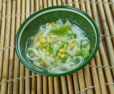Cantonese corn soup - Chinese-style corn soup , close up Stock Photo