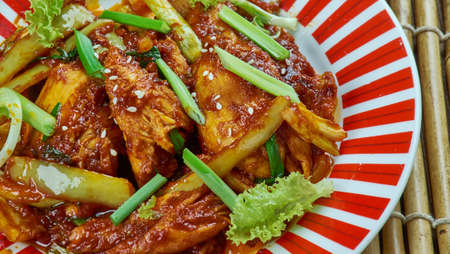 Chinese Healthy Hunan Style Chicken Stir Fry,