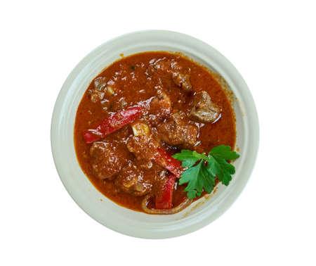 Transcarpathian Bohrach -  meat goulash close up Stock Photo