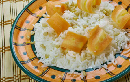 Fistikli Havuclu Pilav Tarifii - Turkish pilaf with carrots and pine nuts