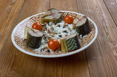osh lobei  - Lobya Pilaf with Black-Eyed Peas, Beans Plov, Mountain Jews Style Azerbijian Foods