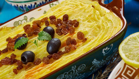 Maghreb cuisine .Torshi- Libyan Mashed Potatoes , Squash