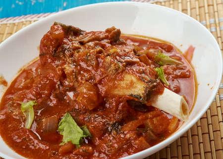 Raan Gosht -Punjab  Roasted Mutton Curry, close up
