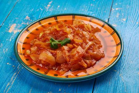 Cebolada -  Portuguese onion stew, onion sauce or paste, Portuguese cuisine