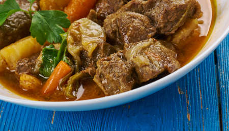 Cape Malay lamb curry  - Cooking from South Africa Stock Photo