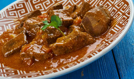 Anda Kaleji Tak-a-tak - Liver and egg cooked with a range of masalas, Pakistani cuisine