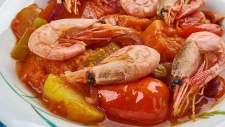 Shrimp Vegetable Tagine with Preserved Lemon From Morocco