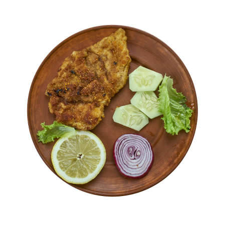 Mexican Steak Milanesa,  Easy mexican food  Stock Photo