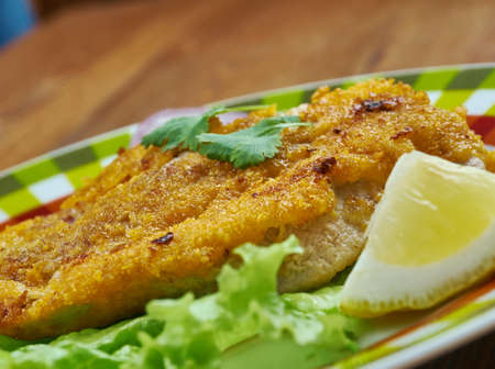 bife  milanesa - Veal Milanese,  Italian dish, a popular variety of cotoletta