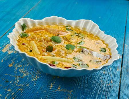 Jamaican Gungo Peas Soup, Pigeon Peas Vegan Stock Photo