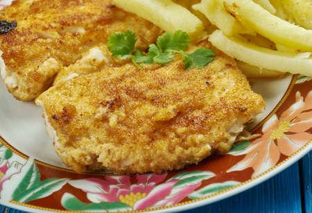crispy fried fish , white fish fillets, Norwegian or Alaska Cod