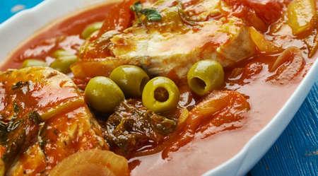 Moroccan Fish Stew Stock Photo