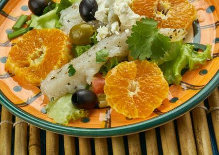 Andalusian codfish salad, Orange salad with salt codfish