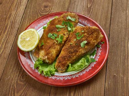 Creole Pan Fried Fish with Roasted Veggies Stock Photo