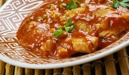 Katla Macher Tel Jhal, Bengali curry  Fish Banque d'images