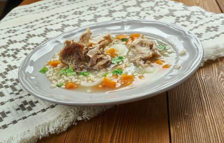 Amish Beef Barley Soup,  classic version   Barley Soup in Pennsylvania Dutch people