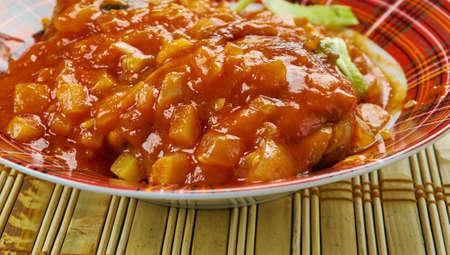 Kadhai Murg - Kadhai Chicken cooked in a wok, Chicken karahi