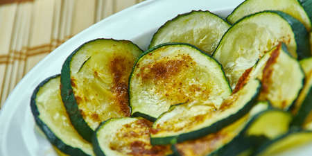 Parmesan Garlic Zucchini Chips, close up