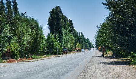 Bishkek-Osh highway, Jalal-Abad Region, Kyrgyzstan.