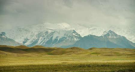 Alay Valley of Osh Region, Kyrgyzstan,  Pamir mountains in Kyrgyzstan