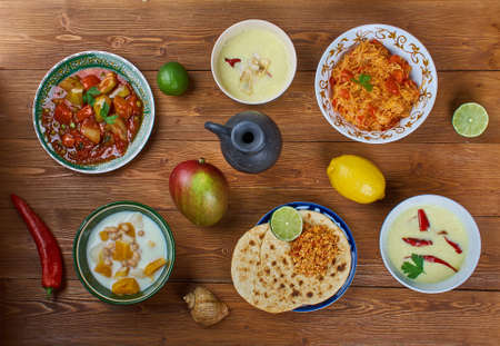 Food set dish from Southern India assortment Stock Photo