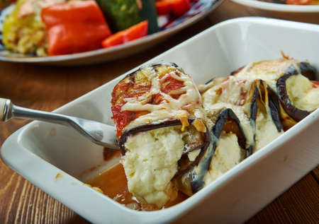 Eggplant Cannelloni - vegan creamy spinach filling is wrapped in grilled eggplant and baked