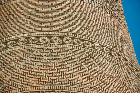 Uzgen ,Elements of brick wall of Uzgen Minaret- town in Osh Region, Kyrgyzstan.