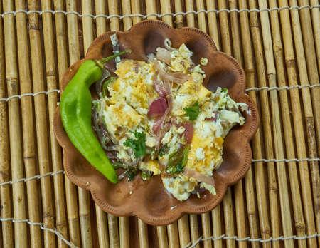 Chatpate Ande ki Sabji - Frittura di masala all'uovo, veloce in stile indiano