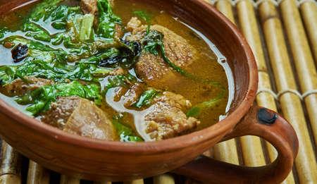 Methi Gosht -  Hyderabadi, Indian Mutton and Fenugreek curry Stock Photo