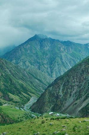 Too-Ashuu Pass , Osh-Bishkek road. 3150m. Kyrgyzstan
